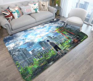 3D Weathering With You 1033 Anime Non Slip Rug Mat