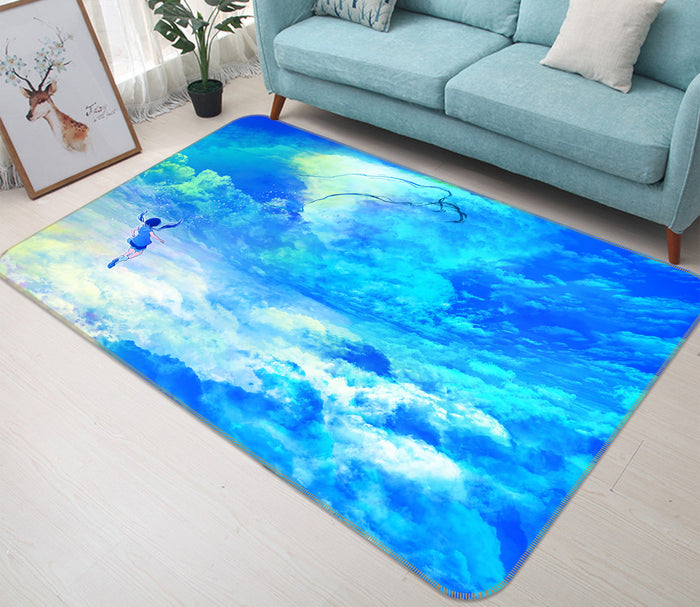 3D Weathering With You 1021 Anime Non Slip Rug Mat