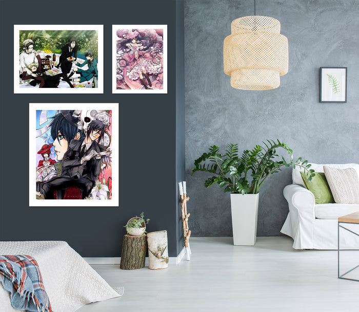 Black Butler A518 Anime Combine Wall Sticker