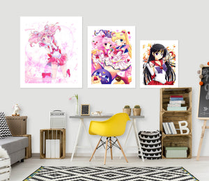 Sailor Moon A881 Anime Combine Wall Sticker
