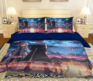 3D Your Name 083 Anime Bed Pillowcases Duvet Cover Quilt Cover