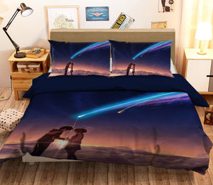 3D Your Name 691 Anime Bed Pillowcases Duvet Cover Quilt Cover