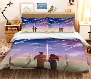 3D Your Name 213 Anime Bed Pillowcases Duvet Cover Quilt Cover