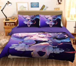 3D Uniform Girl 231 Anime Bed Pillowcases Duvet Cover Quilt Cover