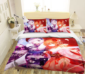 3D Fate Stay Night Grand Order 331 Anime Bed Pillowcases Duvet Cover Quilt Cover