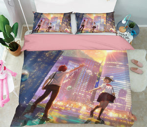 3D Your Name 222 Anime Bed Pillowcases Duvet Cover Quilt Cover