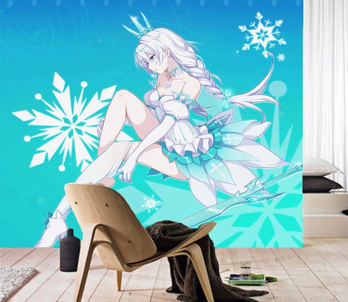 3D Girl Snowflake 087 Wallpaper