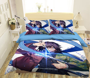 3D Kimetsu No Yaiba 1988 Anime Bed Pillowcases Duvet Cover Quilt Cover