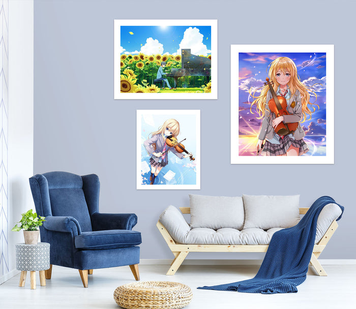 Your Lie In April A280 Anime Combine Wall Sticker