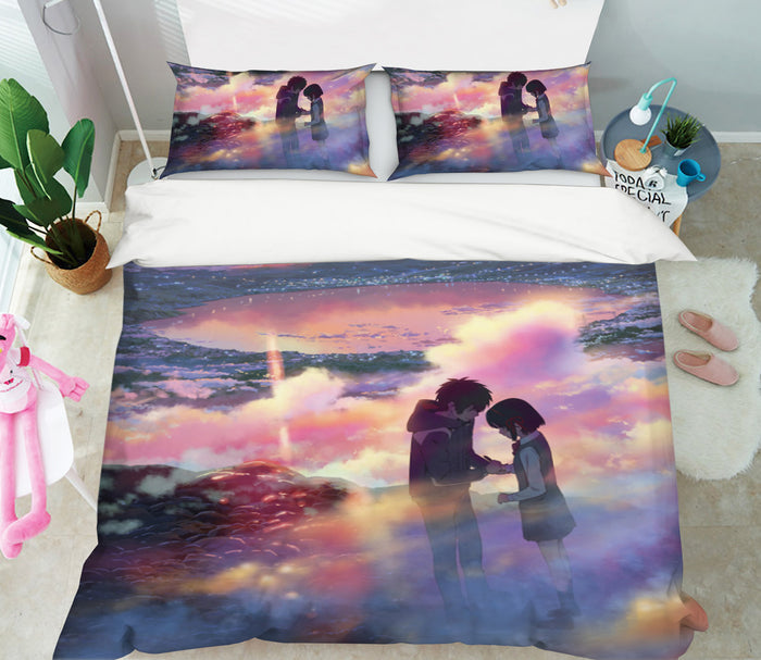 3D Your Name 695 Anime Bed Pillowcases Duvet Cover Quilt Cover