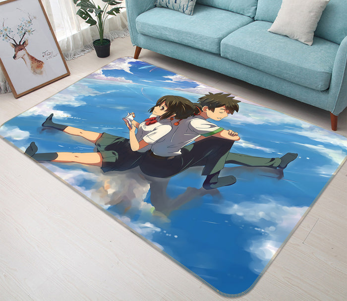 3D Your Name 1378 Anime Non Slip Rug Mat