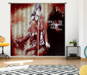 3D Attack On Titan 349 Anime Curtains Drapes