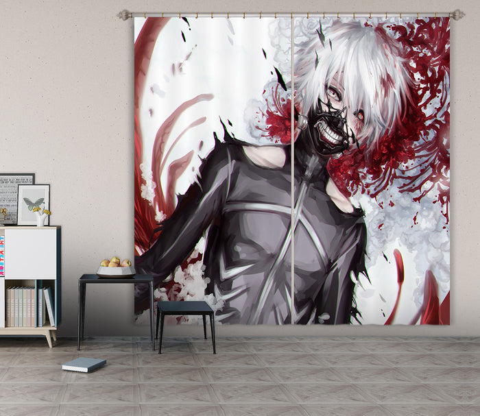 3D Tokyo Ghoul 044 Anime Curtains Drapes
