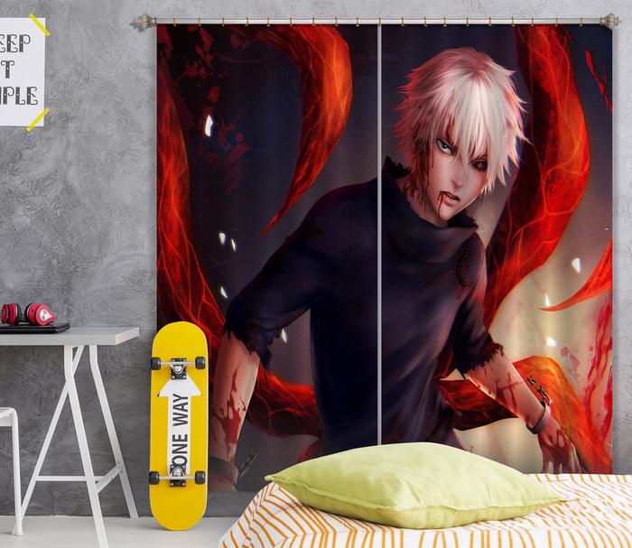 3D Tokyo Ghoul 053 Anime Curtains Drapes