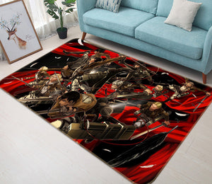 3D Attack On Titan 1055 Anime Non Slip Rug Mat