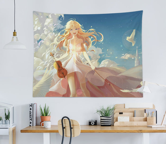 3D Your Lie In April 2394 Anime Tapestry Hanging Cloth Hang
