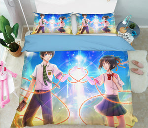 3D Your Name 215 Anime Bed Pillowcases Duvet Cover Quilt Cover