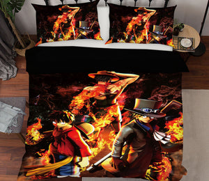 3D ONE PIECE 537 Anime Bed Pillowcases Duvet Cover Quilt Cover