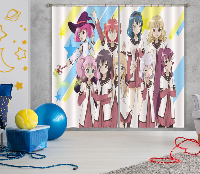 3D Yuruyuri 176 Anime Curtains Drapes