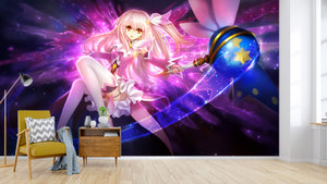 3D Magic Wand Pink Girl 504 Wallpaper