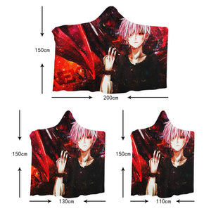 3D Sword Art Online 4467 Anime Hooded Blanket