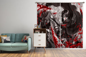 3D Attack On Titan 100 Anime Curtains Drapes