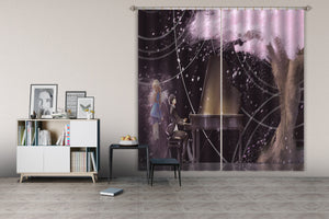 3D Your Lie in April 170 Anime Curtains Drapes