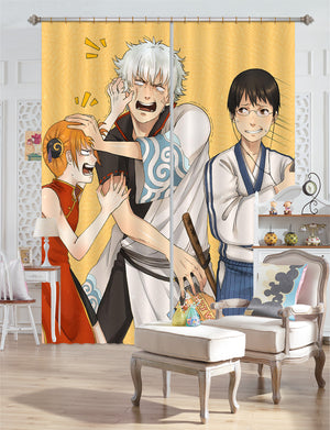 3D GINTAMA 235 Anime Curtains Drapes