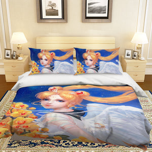 3D Sailor Moon 572 Anime Bed Pillowcases Duvet Cover Quilt Cover