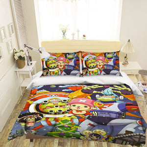 3D ONE PIECE 508 Anime Bed Pillowcases Duvet Cover Quilt Cover