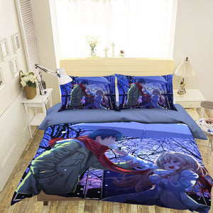 3D Plastic Memories 047 Anime Bed Pillowcases Duvet Cover Quilt Cover