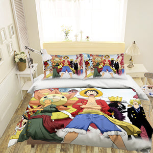3D ONE PIECE 042 Anime Bed Pillowcases Duvet Cover Quilt Cover