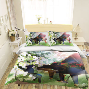 3D Your Lie in April 688 Anime Bed Pillowcases Duvet Cover Quilt Cover