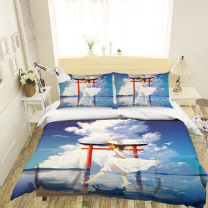 3D Cloud Reflection 117 Anime Bed Pillowcases Duvet Cover Quilt Cover