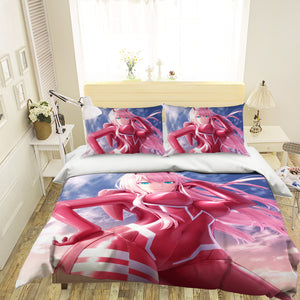 3D DARLING In The FRANXX 306 Anime Bed Pillowcases Duvet Cover Quilt Cover