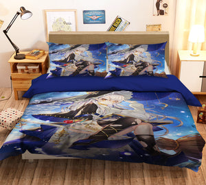 3D Witch Magic 239 Anime Bed Pillowcases Duvet Cover Quilt Cover