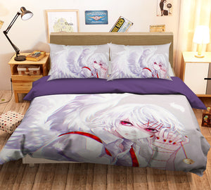 3D Tokyo Ghoul 188 Anime Bed Pillowcases Duvet Cover Quilt Cover