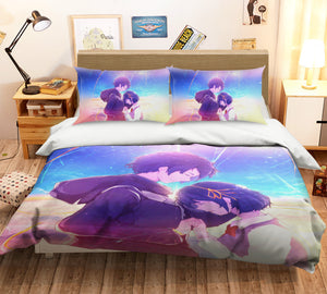 3D Your Name 223 Anime Bed Pillowcases Duvet Cover Quilt Cover