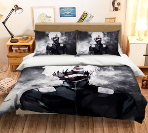 3D Tokyo Ghoul 197 Anime Bed Pillowcases Duvet Cover Quilt Cover