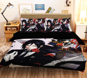 3D Black Butler 756 Anime Bed Pillowcases Duvet Cover Quilt Cover