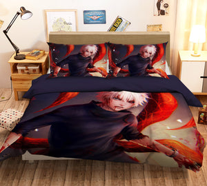 3D Tokyo Ghoul 205 Anime Bed Pillowcases Duvet Cover Quilt Cover