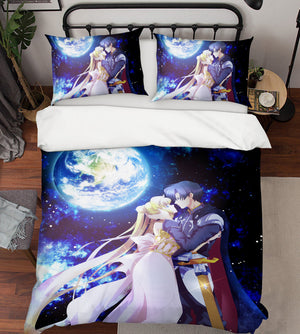 3D Sailor Moon 844 Anime Bed Pillowcases Duvet Cover Quilt Cover
