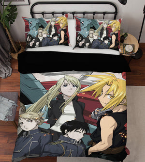 3D Fullmetal Alchemist 18 Anime Bed Pillowcases Duvet Cover Quilt Cover