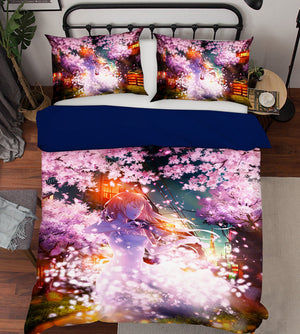 3D Your Lie In April 1759 Anime Bed Pillowcases Duvet Cover Quilt Cover