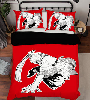 3D GINTAMA 19 Anime Bed Pillowcases Duvet Cover Quilt Cover
