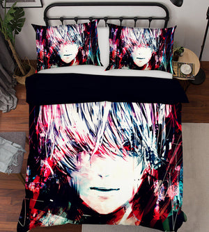 3D Tokyo Ghoul 203 Anime Bed Pillowcases Duvet Cover Quilt Cover