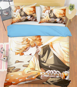 3D Kimetsu No Yaiba 2005 Anime Bed Pillowcases Duvet Cover Quilt Cover