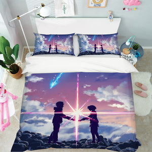 3D Your Name 705 Anime Bed Pillowcases Duvet Cover Quilt Cover