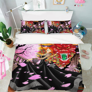 3D ONE PIECE 517 Anime Bed Pillowcases Duvet Cover Quilt Cover