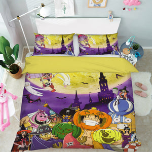 3D ONE PIECE 520 Anime Bed Pillowcases Duvet Cover Quilt Cover